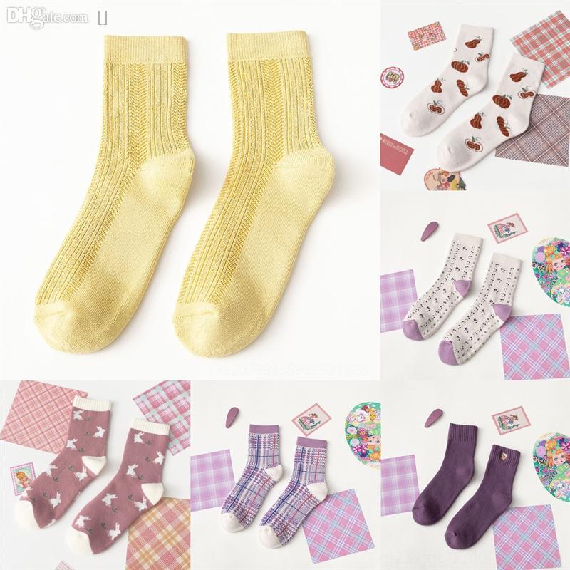 QQB Yeni Moda Erkekler Japon Antumn Çorap Sonbahar ve Kış Kaktüs Yeşil Çorap Marka Burnaby Hip Hop Çizgili Kuşlar Baskı Çalıştırmak Ekip Çorap