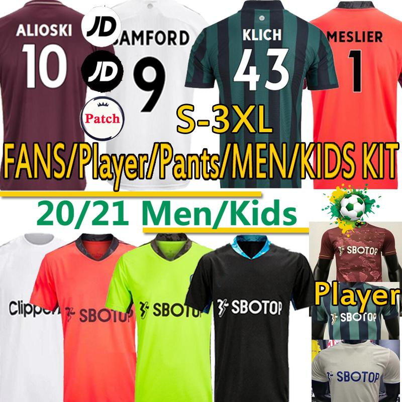 20 21 ليدز لكرة القدم جيرسي روبرتس المتحدة الرجال الأطفال 2020 2021 هاريسون COSTA Alioski كليتش هرنانديز BAMFORD CLARKE البلوزات السراويل زي