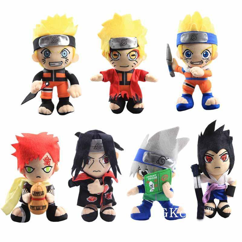 20 cm anime naruto brinquedos de pelúcia legal gaara hatake kakashi uchiha itachi sasuke suaves bonecos de pelúcia presentes de natal crianças brinquedos