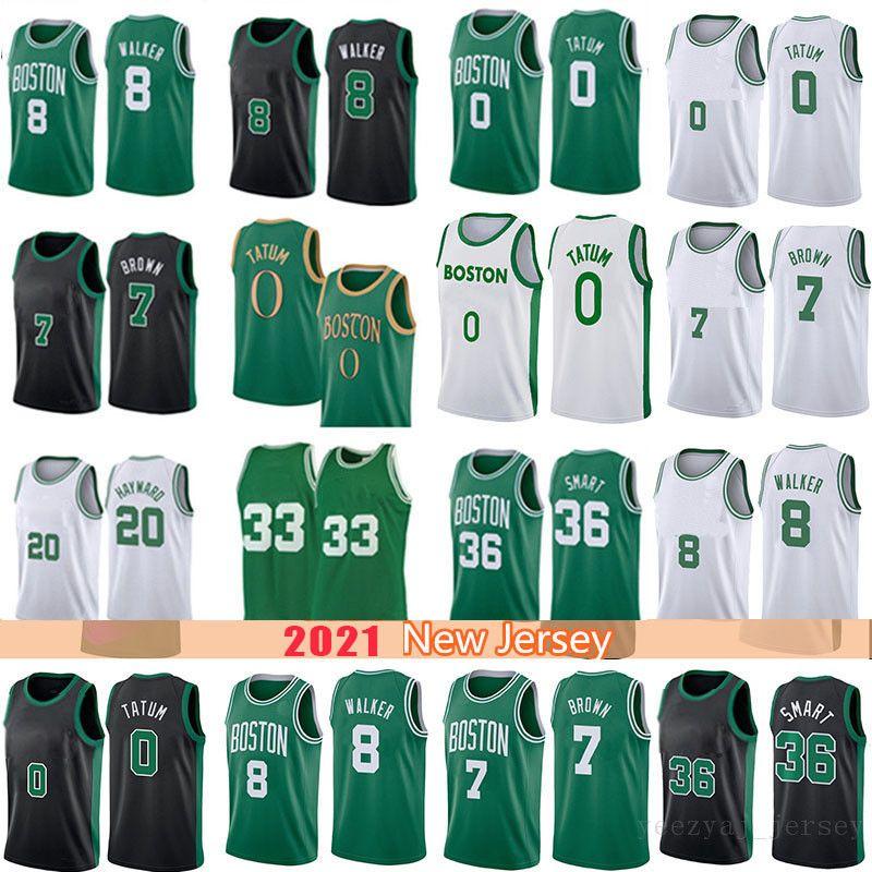 Kemba 8 Walker Jayson 0 Tatum 33 Баскетбол Джерси Маркус 36 Smart Jeylen 7 Браун Гордон 2021 Новые майки Лаванда