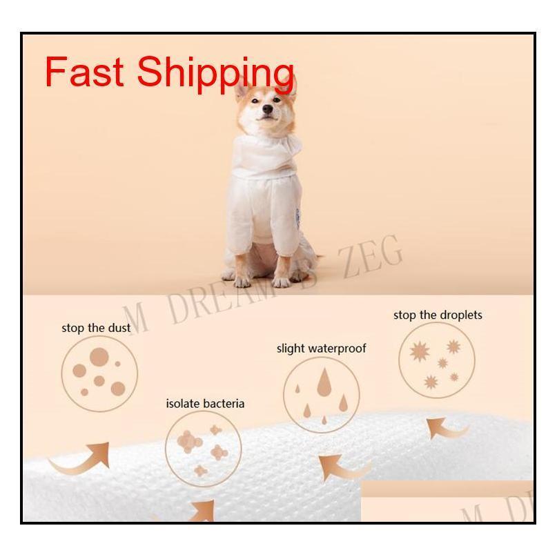 Ropa protectora para perros de mascota ventilatoria para caminar al aire libre Parada de bacterias Perro Perro Ropa a prueba de polvo Disfraz PET PET QYLZJH BDESPORTS