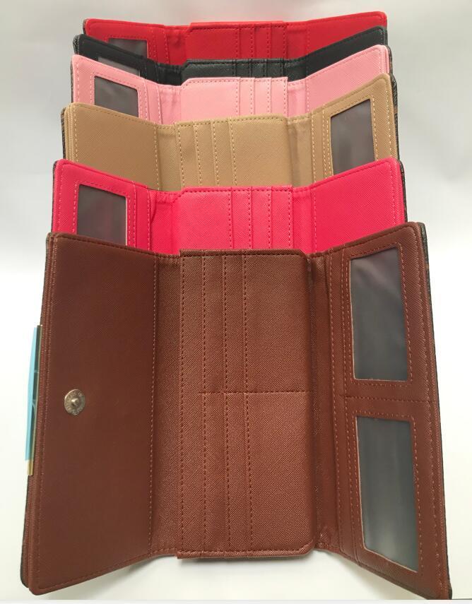 Fold le moyen le plus élégant pour transporter l'argent, des cartes et pièces de monnaie des hommes porte-cartes porte-monnaie en cuir longues femmes d'affaires portefeuille 19