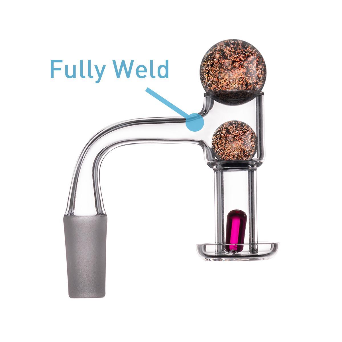 Rauchen Zubehör Vollschweißungsquarz Banger Kit mit Rubin-Pille 45 ° 90 ° weiblicher Mann 14mm 18mm Nagel für Glas DAB-Rigg