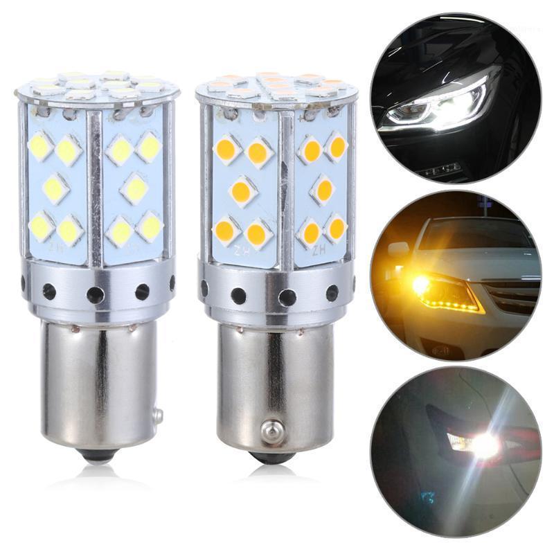 Feux d'urgence 1PC 1156 BA15S BAU15S PY21W T20 7440 3030 35SMD CANBUS GRATUIT LED Lampe de voiture de voiture de conduite de la lumière Signal Signal Blight frein bulb1
