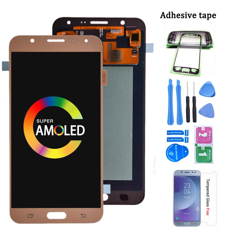 Super AMOLED LCD For Samsung Galaxy J7 2015 J700 Display with Touch Screen Digitizer Assembly J700F J700H J700M