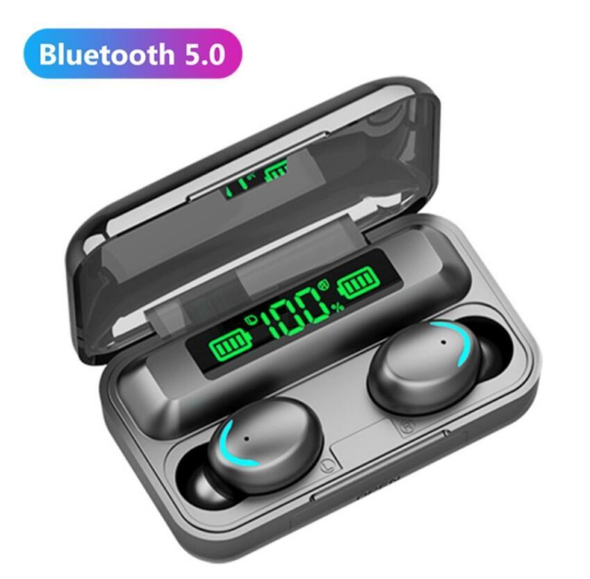 F9-5C F9-5 TWS 블루투스 5.0 무선 헤드폰 이어폰 9D 스테레오 스포츠 방수 무선 이어폰 터치 컨트롤 헤드셋 이어 버드