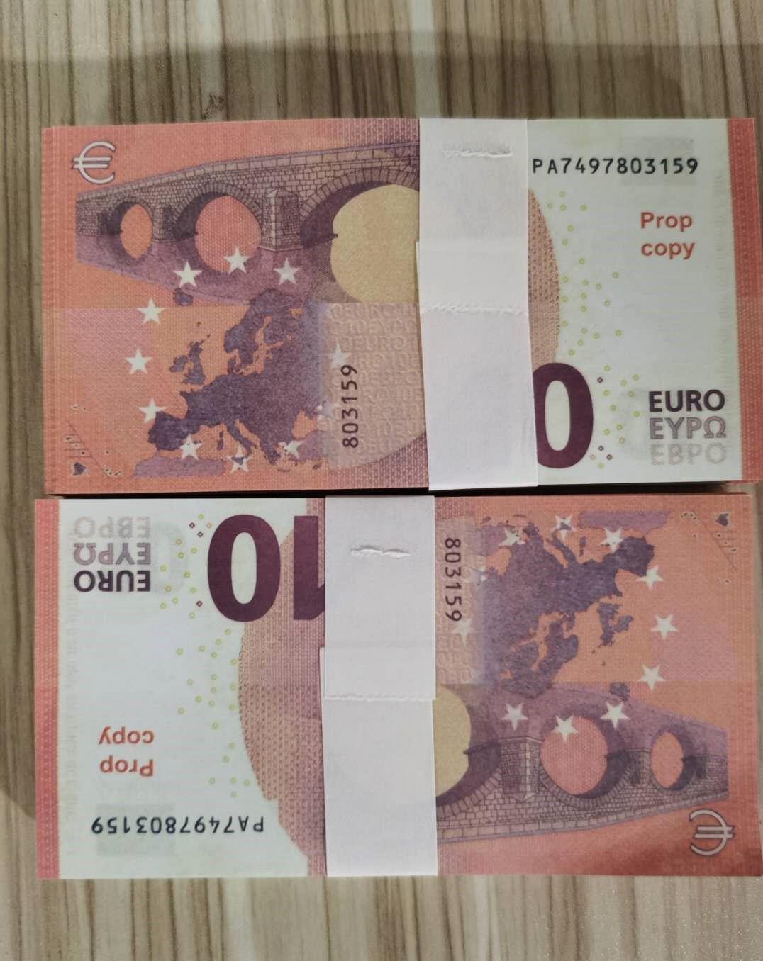 Heiße Verkäufe Nachtclub Bar Games Pretend Prop-Geld-Kopie Banknote Faux Billet-Filme 10, 200, 50 Euro 100pcs / Pack E1250