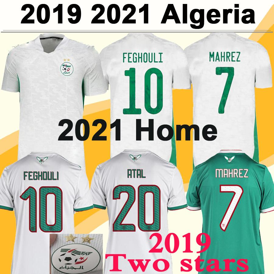 2020 2021 Algeria MAHREZ FEGHOULI Mens Soccer Jerseys 2019 Africa Cup Two Stars SLIMANI BENNACER ATAL Home Away Football Shirt Short Sleeve