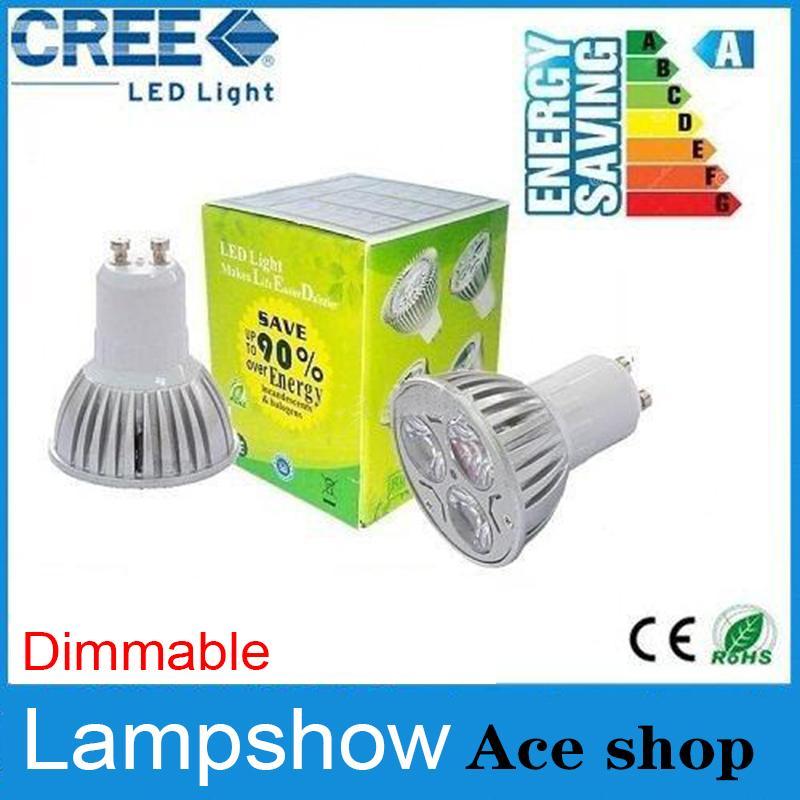 Ampoule LED 9W Dimmable E14 E26 E27 110 240V GU5.3 MR16 chaud / naturel / Rafraîchissez LED blanche lampe Spotlight