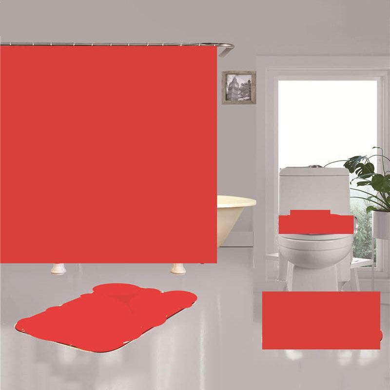 Moda Imprimir Cortinas de Chuveiro Conjuntos Simples Casa Banheiro 4 pcs Ternos impermeáveis Não-deslizamento Banheira Toiletes 7 estilos