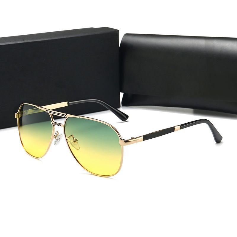 Marka Tasarımcısı Gözlük Erkek Kadın Moda P8478 Serin Yaz Stil Polarize Gözlük Güneş Gözlüğü Güneş Gözlükleri 2 Setleri Lens 8478 Kılıflar Ile