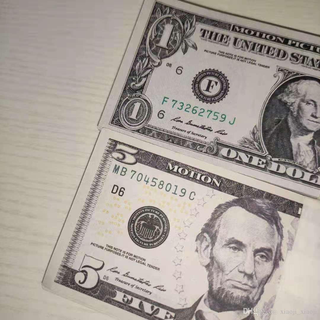 Toy Money Moneda Billete Billete Billete Billete de Money Fake Fake Niños Regalo 100pcs / Pack Party Play Dollar película 13 RNPEC