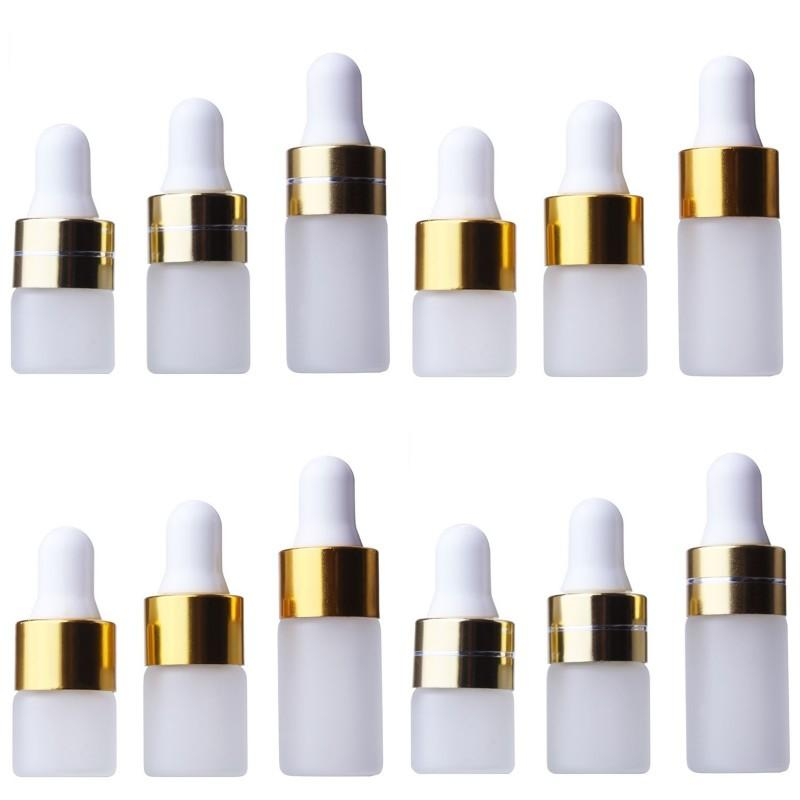 Mini Glass Subpackage Dropper Bottle Empty Frosting Containers Transparent 1ml 2ml 3ml Cosmetic Jars Outdoors New Arrival 0 65jy F2