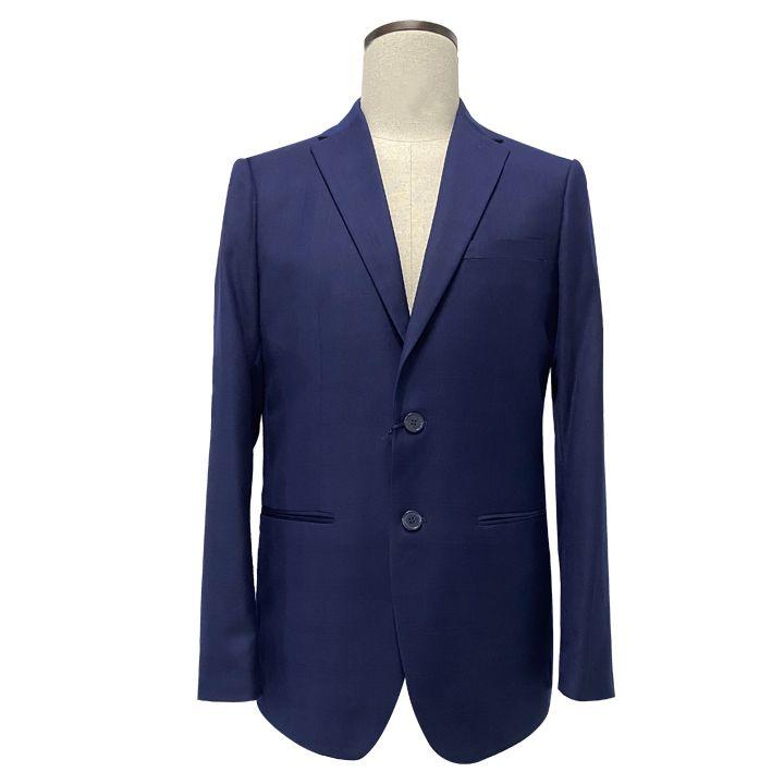 En stock hommes sur mesure costumes à carreaux 2 pièces pantalon blazer costume coupe slim