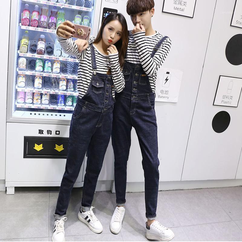 Мужские джинсы пары джинсовые комбинезоны мужские тонкие комбинезоны высокого качества юношеский летний повседневный корейский джинс1