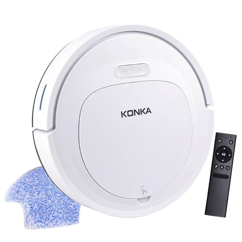 IKONKA V88 Robot Vacuum Cleaner Sweep&Wet Mop Simultaneously For Hard Floors&Carpet Run 150mins before Automatically Charge Y200320