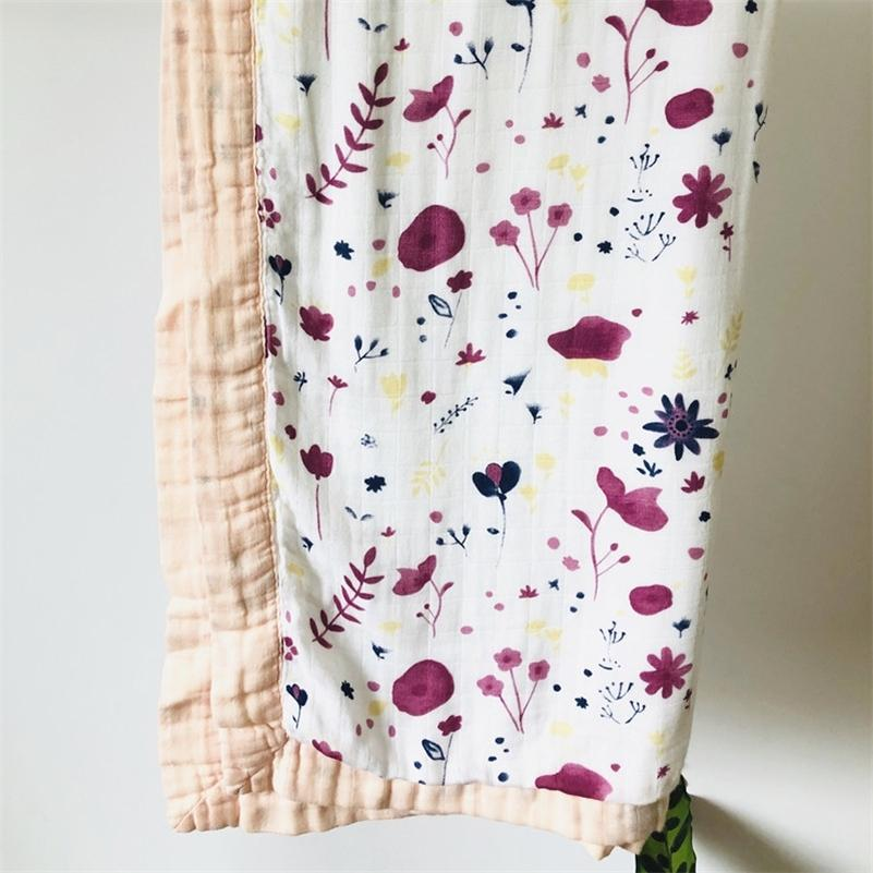 Quilt quatro camada de bambu bebê Muslin Cobertor Karitree swaddle melhor do que Anais Bebê / Bambu Blanket Infantil Envoltório LJ201105