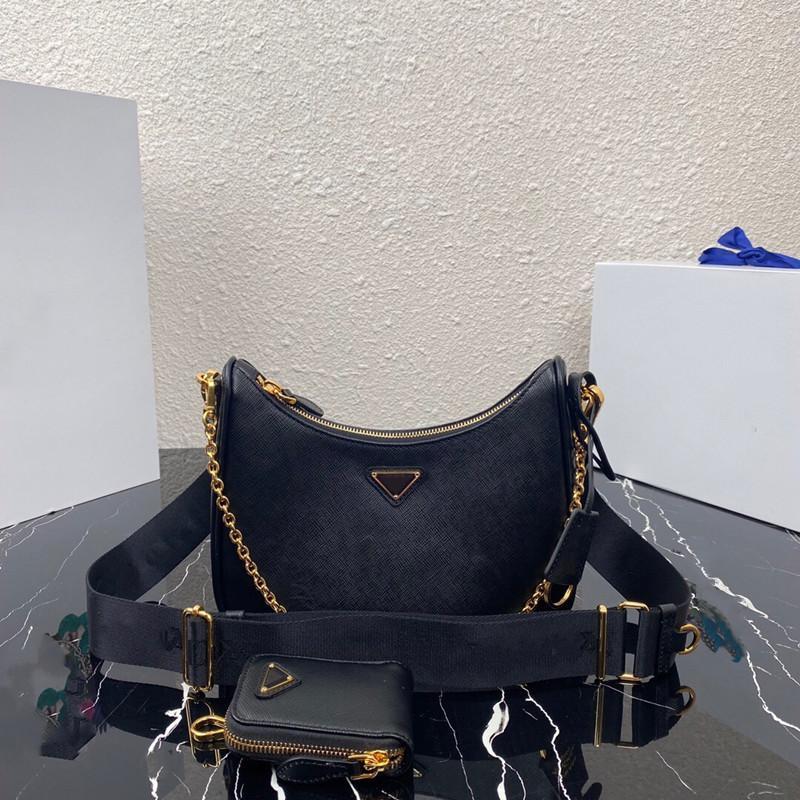 2021 Borsa graziosa Stile caldo Aggiornamento Borse in metallo originale Fashion Rimovibile Croce Cinturino in nylon Zipper Pull Lining Top Catena 58475 Pattern WDRD