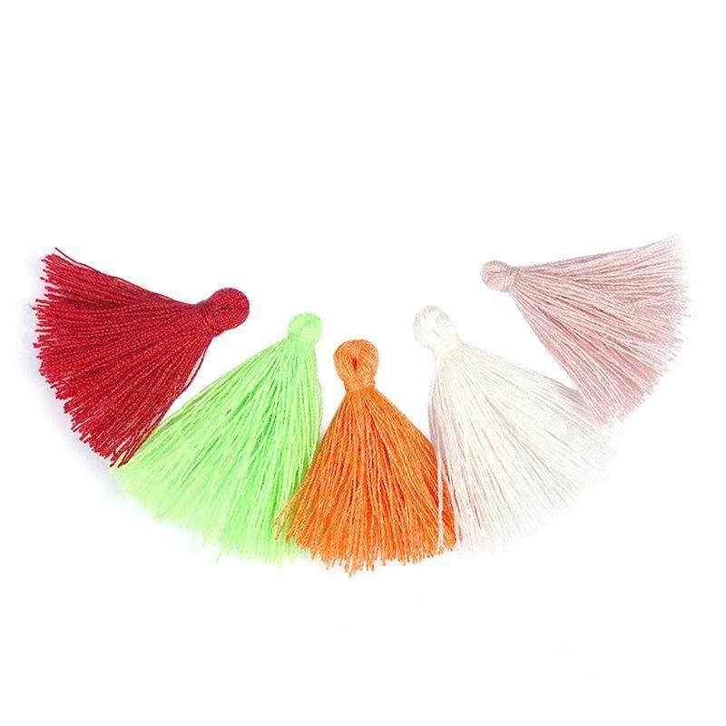 100pcs Color Mini Tassel Fringe Pendant Diy Craft Supplies Party Cotton Tassel Trim Garments Curtains Jewelry Decor Material H jllhvd
