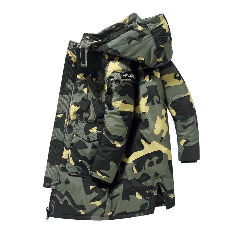 Chaqueta 90% chaquetas de lujo 2020 de piel hombre cálido invierno desmontable collar de cuello alto a prueba de viento Marca concisos puños cómodos