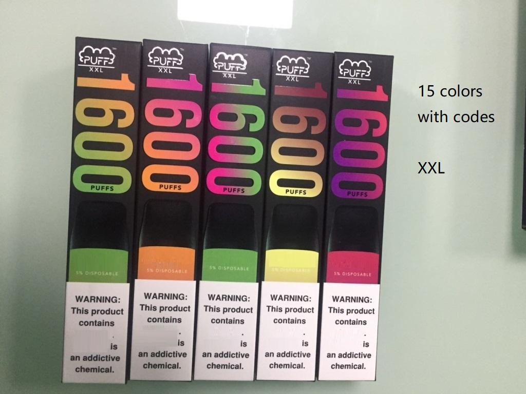 In stock!Puff XXL Disposable Vape pen Pods Device Puff xxl 850mAh Battery 1600 puffs Puff Bar Pre-filled Kit disposable e cigarettes