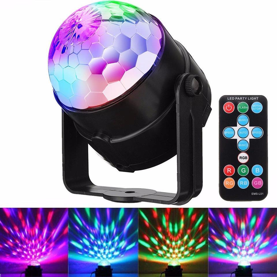 Kristallkugel LED-Bühnenblitzlicht Auto Sound aktiviert DJ-Lichter mit Fernbedienung für Bar DJ Ballroom Home Club Hochzeitstanz
