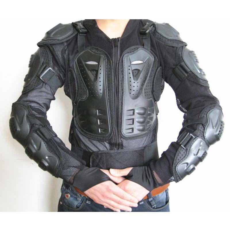 Moto Armors Motocicleta Chaqueta Cuerpo Completo Armadura Motocrosa Motocicleta Motocicleta, Ciclismo, Protector de Biker Ropa protectora Protectora Color Negro