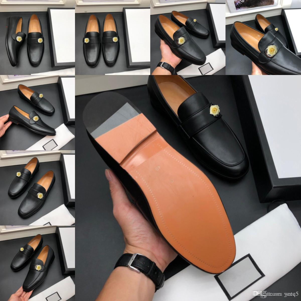C5 Designer Designer Uomo Scarpe formali Mens Slip-on PU Shoe Leather Shoe Brown Black Band Elastic Band Uomo Vestito di Lusso Scarpe da ufficio Scarpe da sposa Party Scarpe da sposa 22