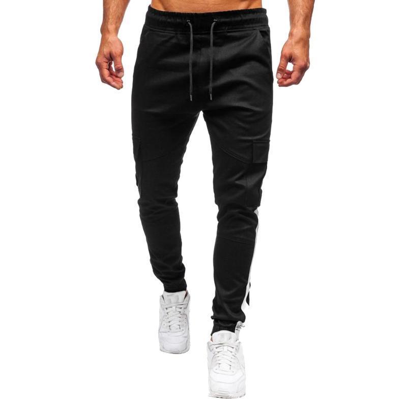 Vogue Hombres pantalón Joggers Deportes ocasionales sólidos pantalones adelgazan los pantalones Pantalones Running Hombre