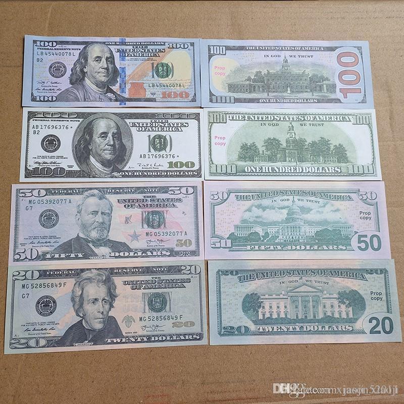 Учите банкноты Поддельные деньги Образование Узнать Учиться и игрушками Имимический преподавательская бумага Детям Помощь USD для доллара 02 VPSQD