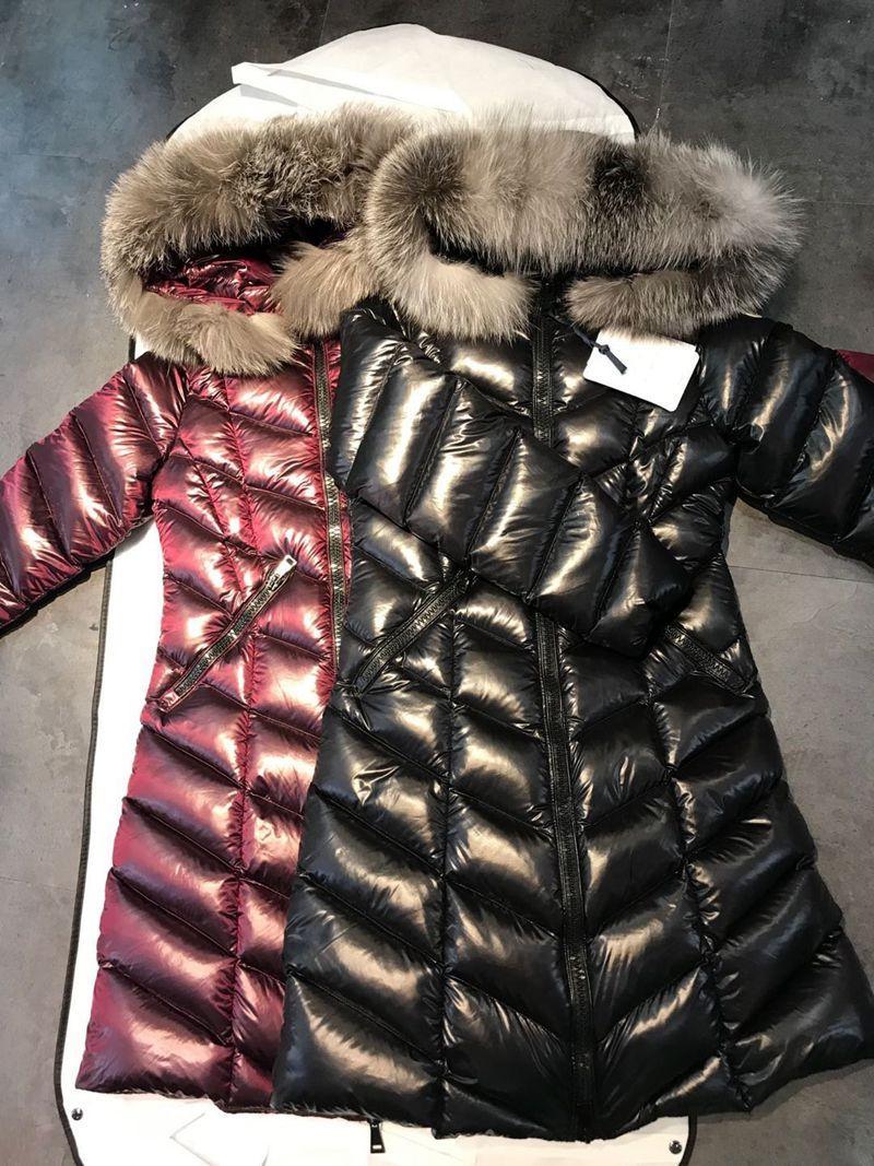 New Fox Fur Women Winter Jacket Shiny Surface Clothes Womens Puffer North Jackets Goose Down Jacket Parka Coats Doudoune winter jacket