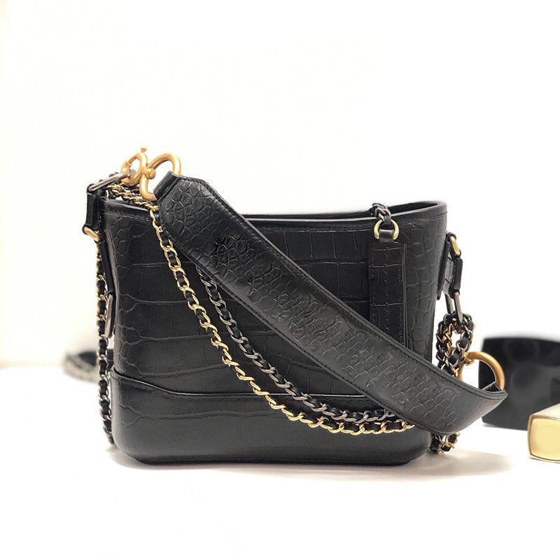 Las últimas bolsas de cocodrilo de impresión, la textura de la forma, la bolsa de bolsas de bolsas retenidas de la textura clásica 883898 fue el clásico pdknx negro de alto perfil negro