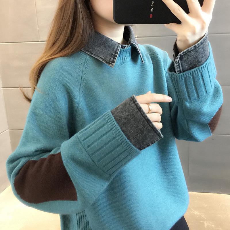 2020 ms New Automne manteau Pull Base à tricoter sur les femmes usure des femmes à l'extérieur non doublé du vêtement supérieur joker