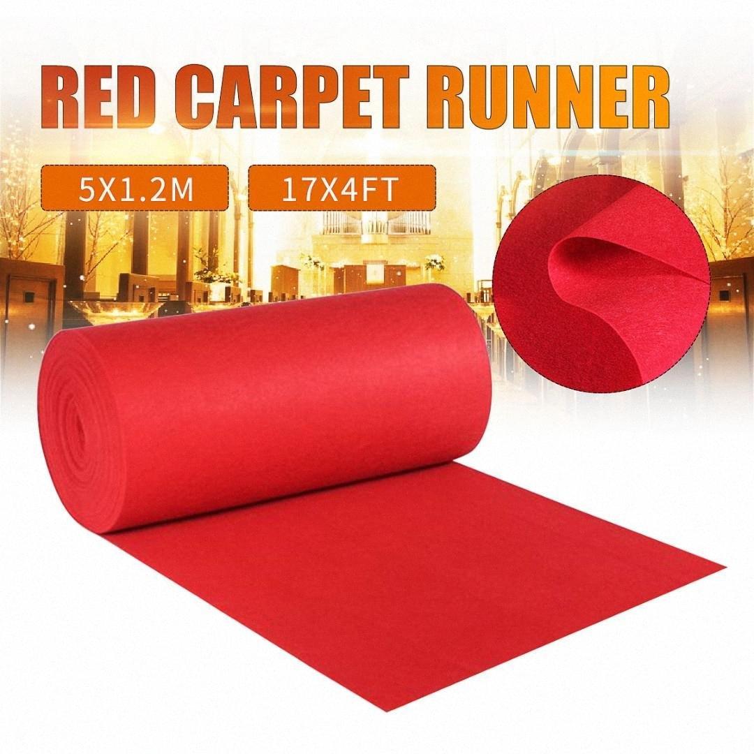 1.2x5m Grande Red Carpet Wedding Aisle Runners Piano Hollywood Party di promenade Carpet decorazione Wedding puntelli accessori monouso gptU #