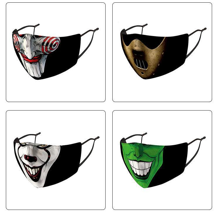 Máscaras de Halloween cara de payaso diseñador de los hombres de las mujeres de la mascarilla máscaras tío Máscara fumadores cabeza del cráneo del payaso del partido máscara de impresión en 3D