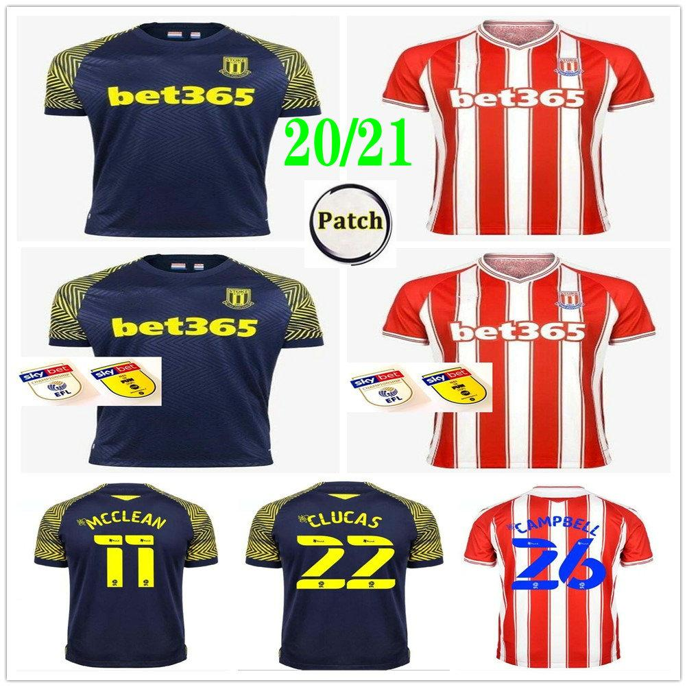 2020 2021 Stoke City Soccer Jerseys CLUCAS GREGORY POWELL CAMPBELL MCCLEAN VOKES AFOBE Custom 20 21 Adult Kids Home Away Football Shirt