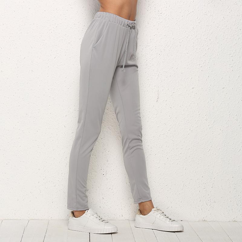 Running Pants 2021 Sport For Women Drawstring Full-Length Trousers Casual Bottom High Waist Fitness Sportswear1