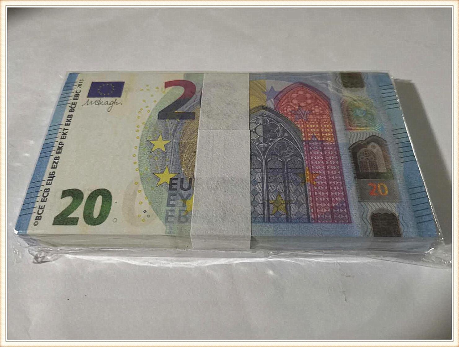 1Factory direkte Simulation von 20 Euro Kinder-Banknote Schießen Requisiten Trick Spielzeug Banknote Token 100