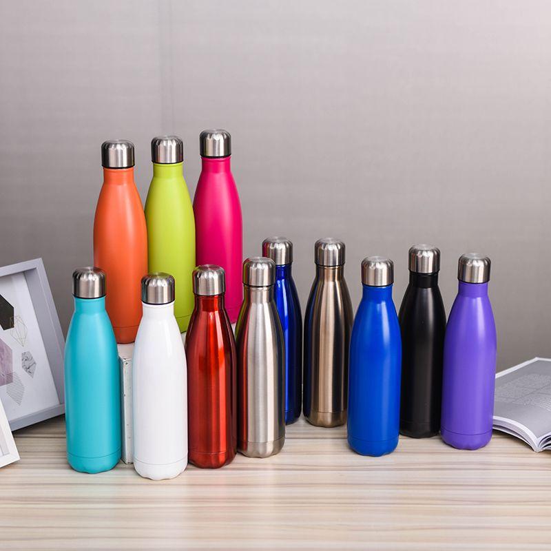 2020 Wholsale Bebida Botella de agua Pareja de pareja Copa 500ml Botella de acero inoxidable 304 Material COLA Forma Tanto Cálido como el mantenimiento de frío