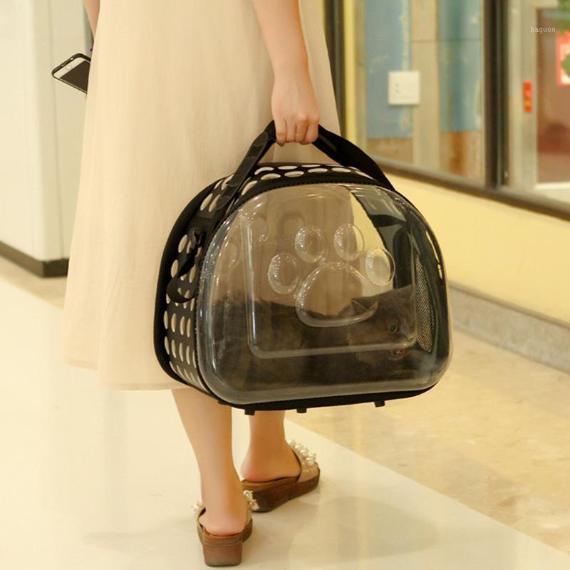 Transparente reise haustier träger welpen katze tragende outdoor taschen für kleine hunde umhängetasche weiche haustiere hund kennel pet produkte1