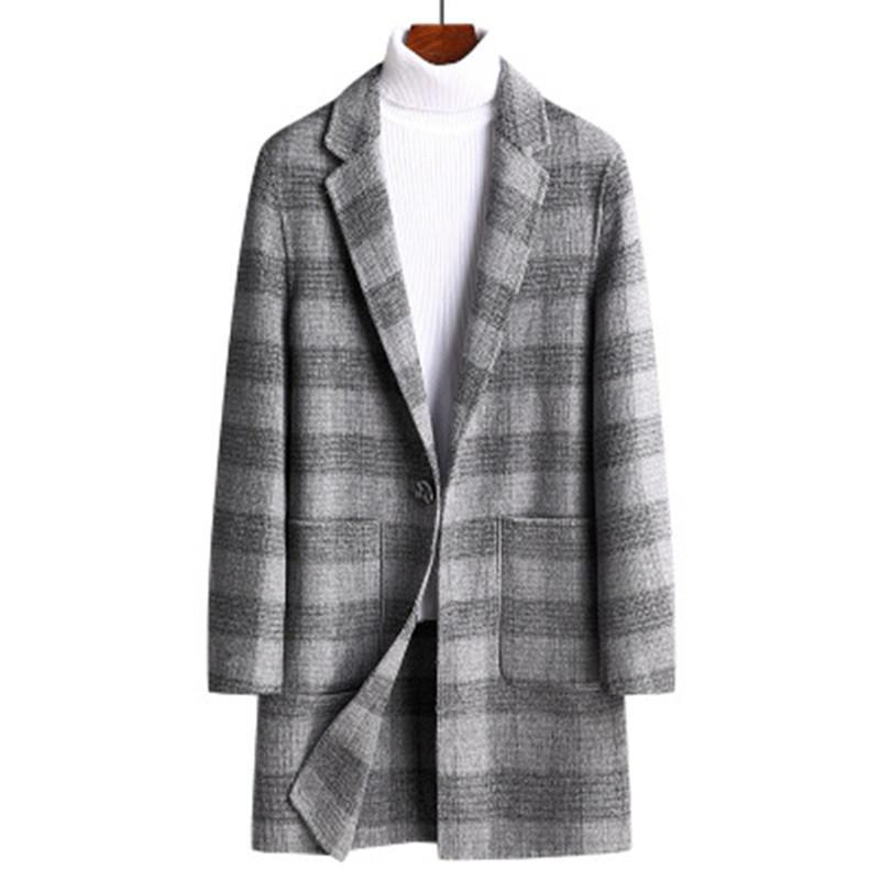2020 Winter espesso casaco de lã masculino moda casual casual casaco de lã homens solta overtimed jaqueta salm overcoat