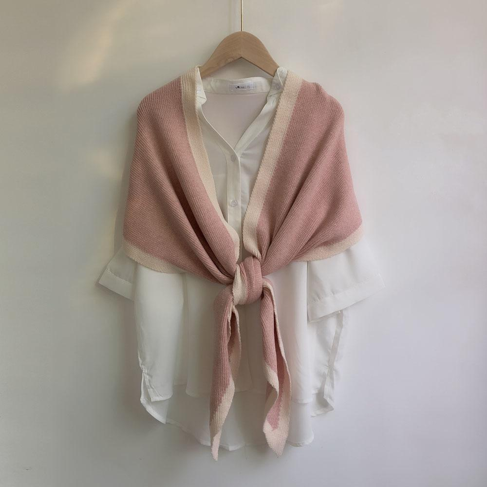 New solid color wool with a shawl for women in autumn and winter