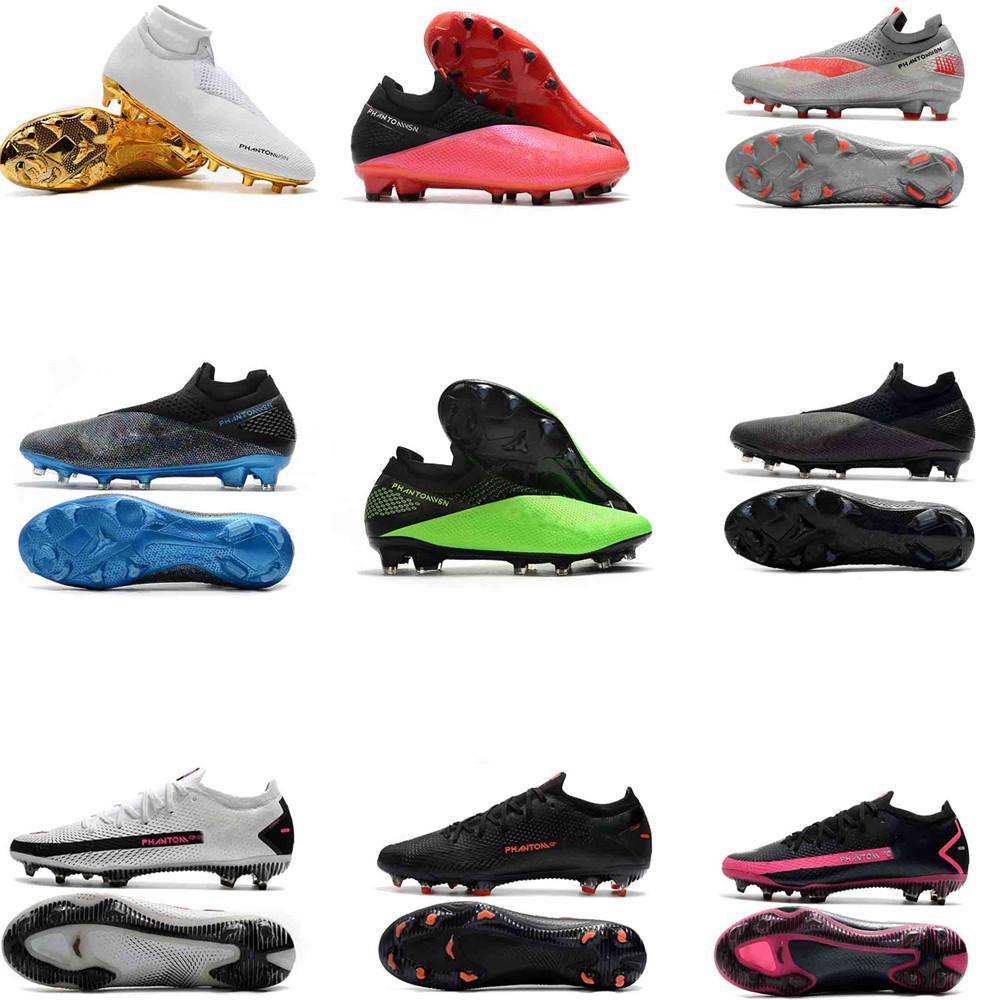 Hot Phantom VSN Vision Phantom GT Elite Pack Fully Charged Mens High Ankle Soccer Cleats Football Shoes