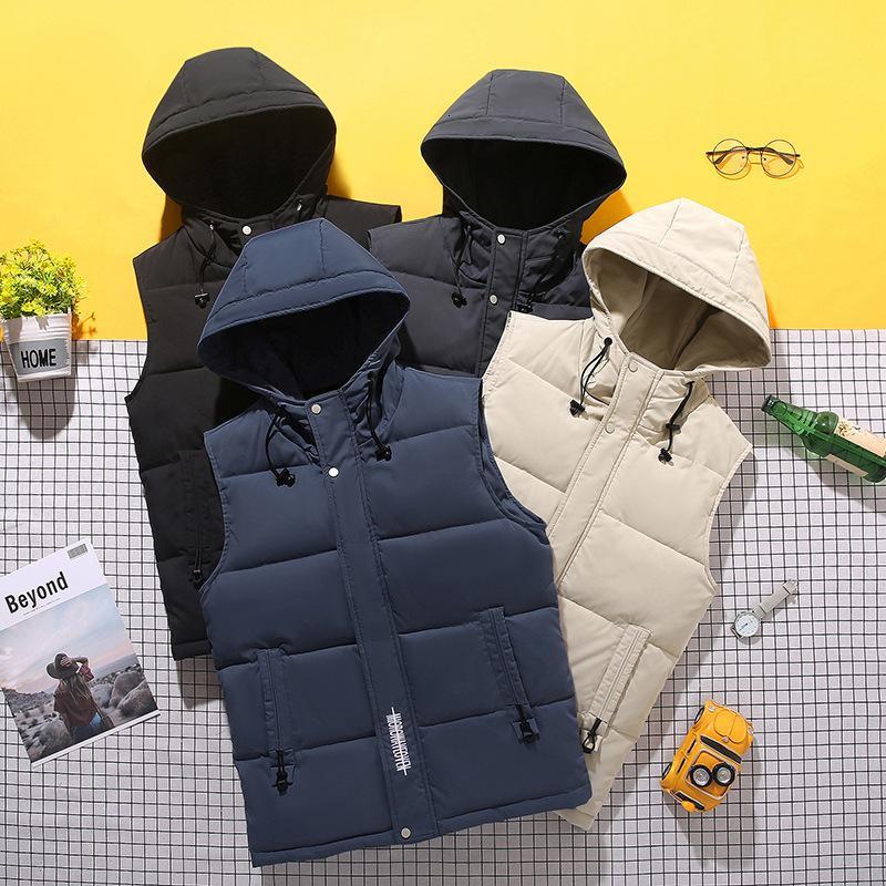 Männer Mantel Koreanische Mode Sleeveless Warme Casual Jacke Herbst und Winter Daunen Baumwolle Weste