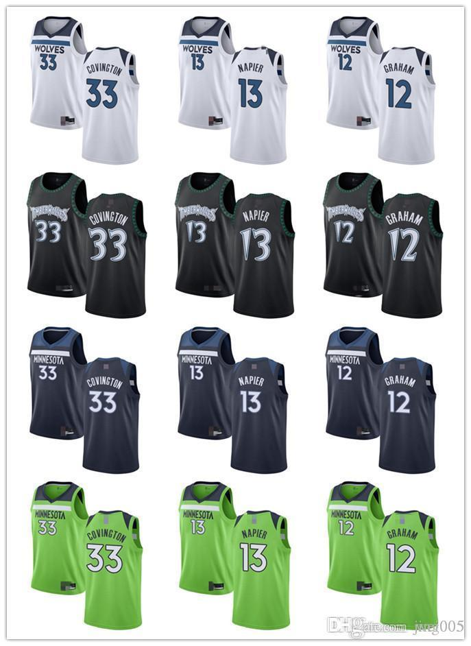 NCAA para hombre para mujer juventudMinnesotaLobos33 Robert Covington 13 Shabazz Napier 12 Treveon Graham Aduanas Basketball Jerseys