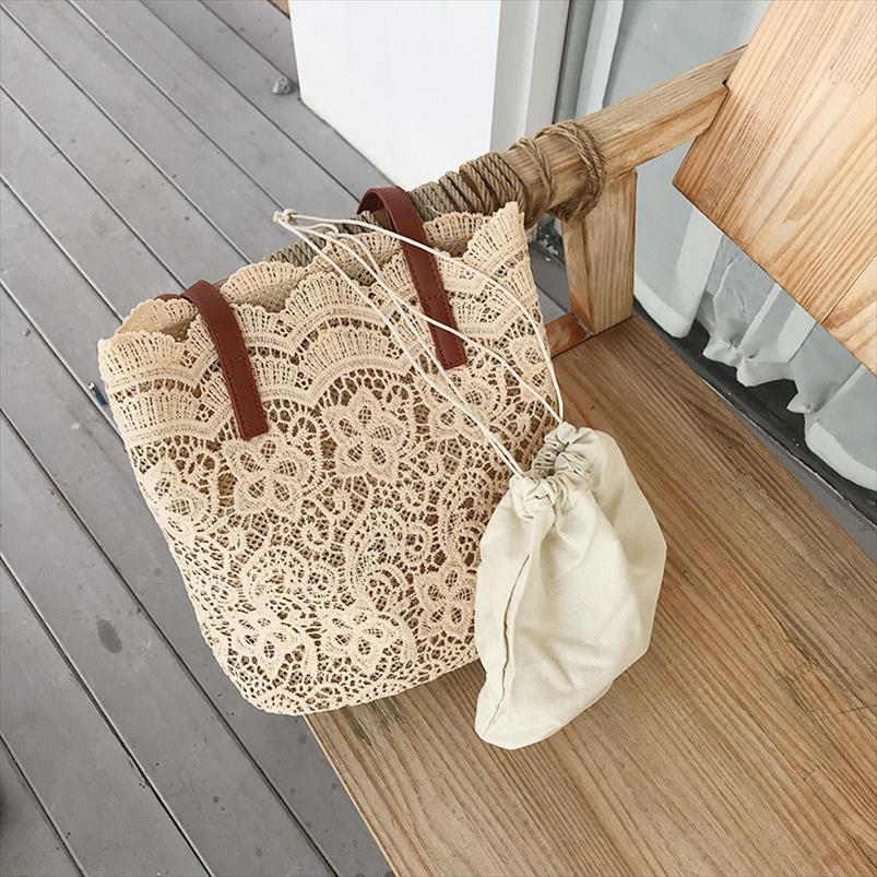 Bucket Bag a tracolla per le donne 2020 Estate New coreano Lace donne eleganti di acquisto del Tote femminili Borse Lady borsa femminile Beach Bag