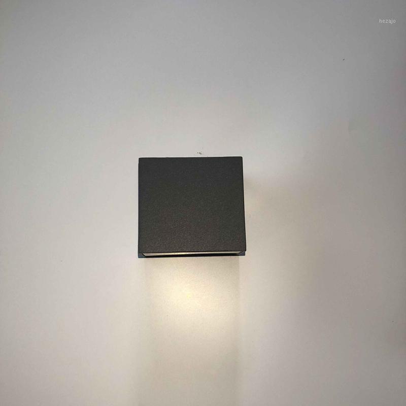 Lámpara de pared Qlteg 5W 10W Outdoor Grey LED Lámparas Impermeable IP65 Aluminio 4000K Black Lights ARRIBA ABAJO LOS LUCES DE JARDINO1