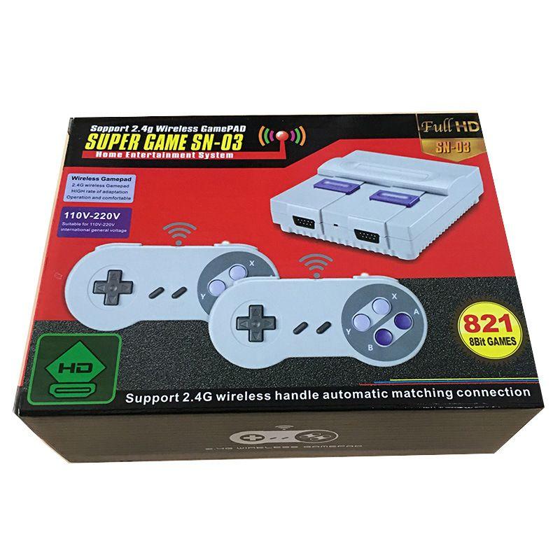 Il nuovo regalo controller wireless viene fornito con 821 giochi, console di videogiochi HD per l'intrattenimento domestico