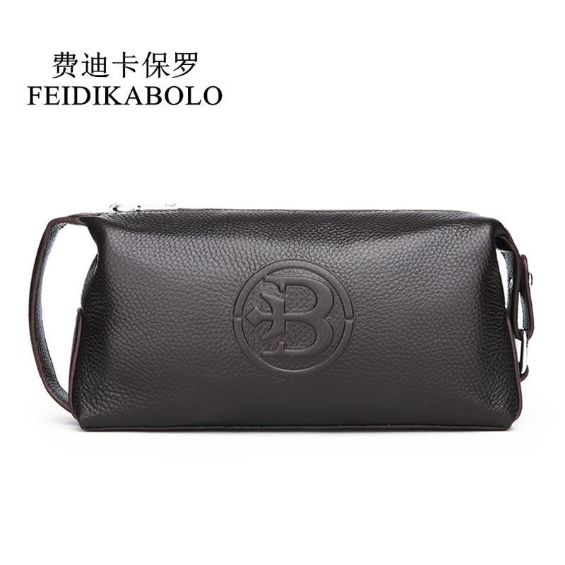 100% Genuine Wallets Black Male Clutch Bags Cow Leather Purses Man Purse Fashion Long Men Clutches Top Quality Q1106