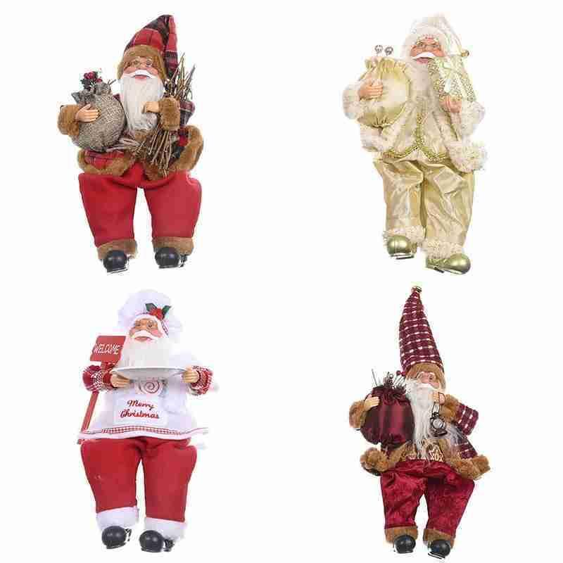 Santa Claus Doll For Xmas Home Desktop Window Christmas Tree Decorations Kids Gift Happy New Year Plush Doll T200909